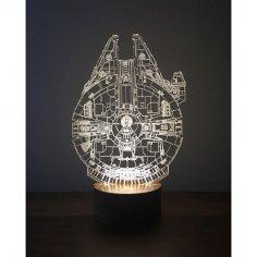 Millenium Falcon 3D Lamp Free Vector