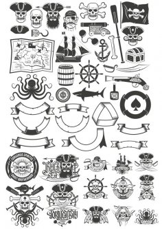 Pirate Vector Art Collection CDR File