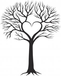 Family Tree With Heart CDR File