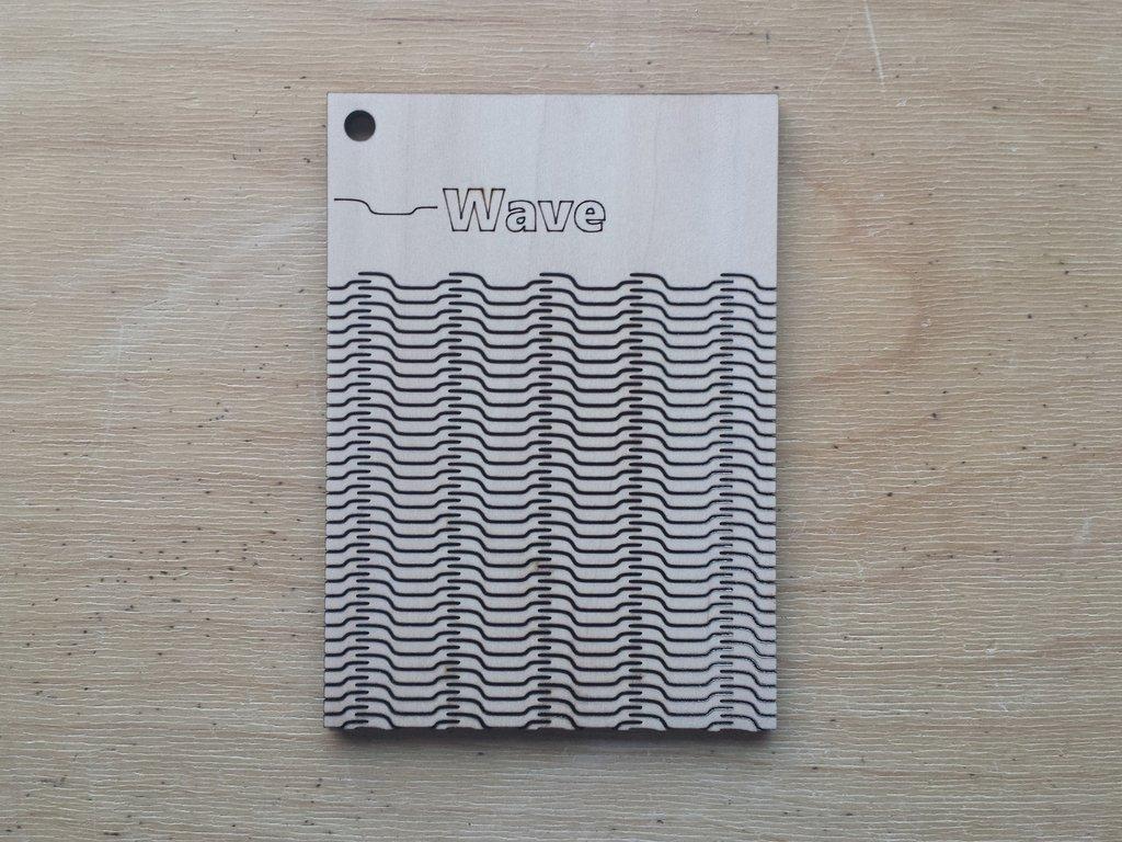 wave pattern living hinge template for laser cut dxf file