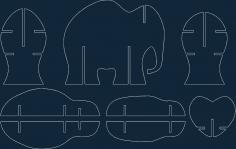 Storage Elephant dxf file