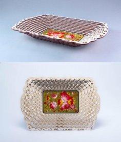 Laser Cut Christmas Gift Basket Wooden Candy Basket DXF File