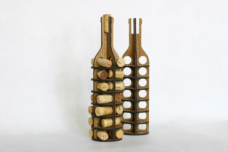 Laser Cut Wine Cork Holder Free Vector Cdr Download 3axis Co
