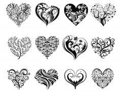 Decorative Heart Vector Art Free Vector
