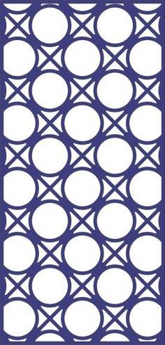 Design of Decorative Circle Pattern Panel dxf File