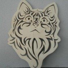 Cute Kitten Face Cat Stencil Vector CDR File
