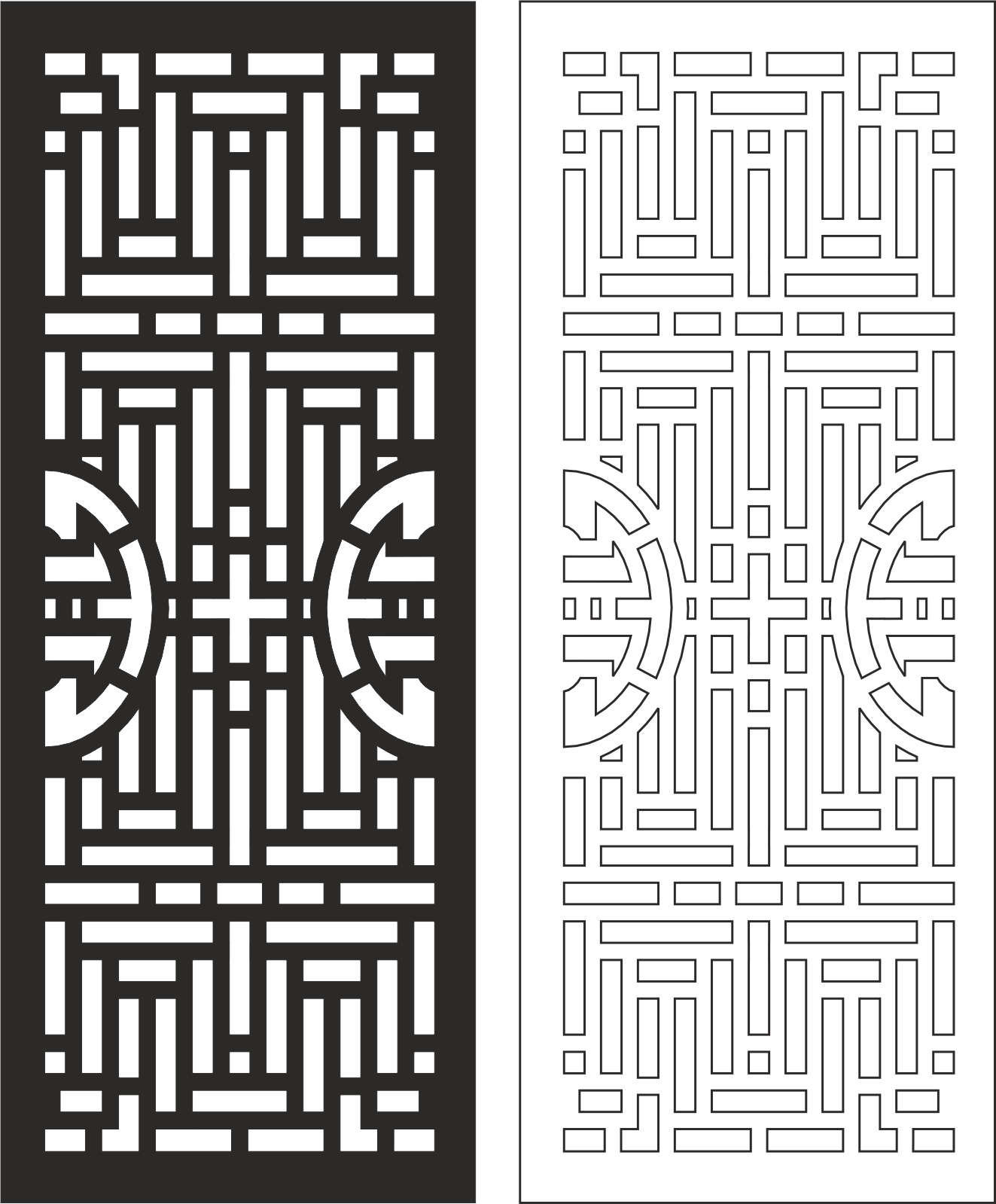 Carved Wood Partition Design Vector Free Vector Cdr