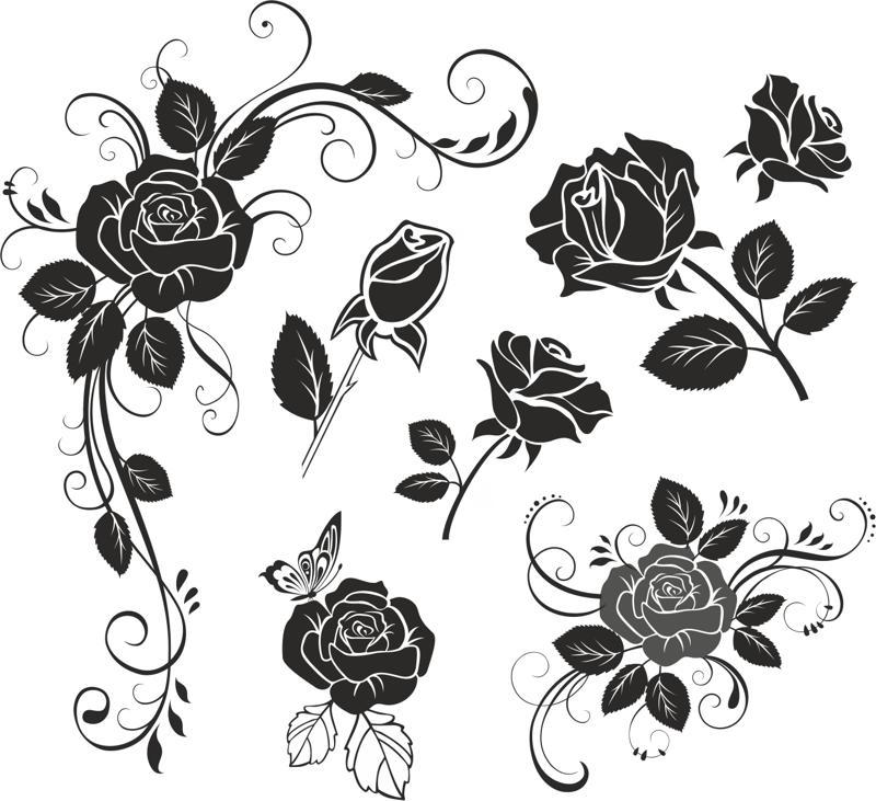 Jpg To Line Art Converter Free Download : Flower rose vector coreldraw cdr file free