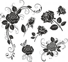 Flower Rose Vector CDR File