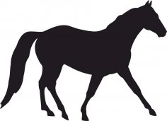 Horse Silhouette Vector CDR File