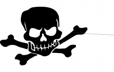 Skull Silhouette dxf File