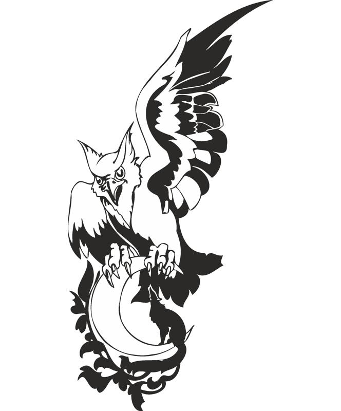 Eagle Wolf Moon Vector CDR File