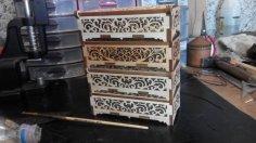 Wooden Casket Box CDR File