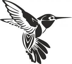 Humming Bird Tattoo dxf File