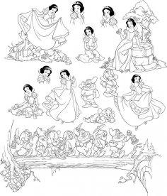 Pretty Snow White And Seven Dwarfs Grumpy CDR File