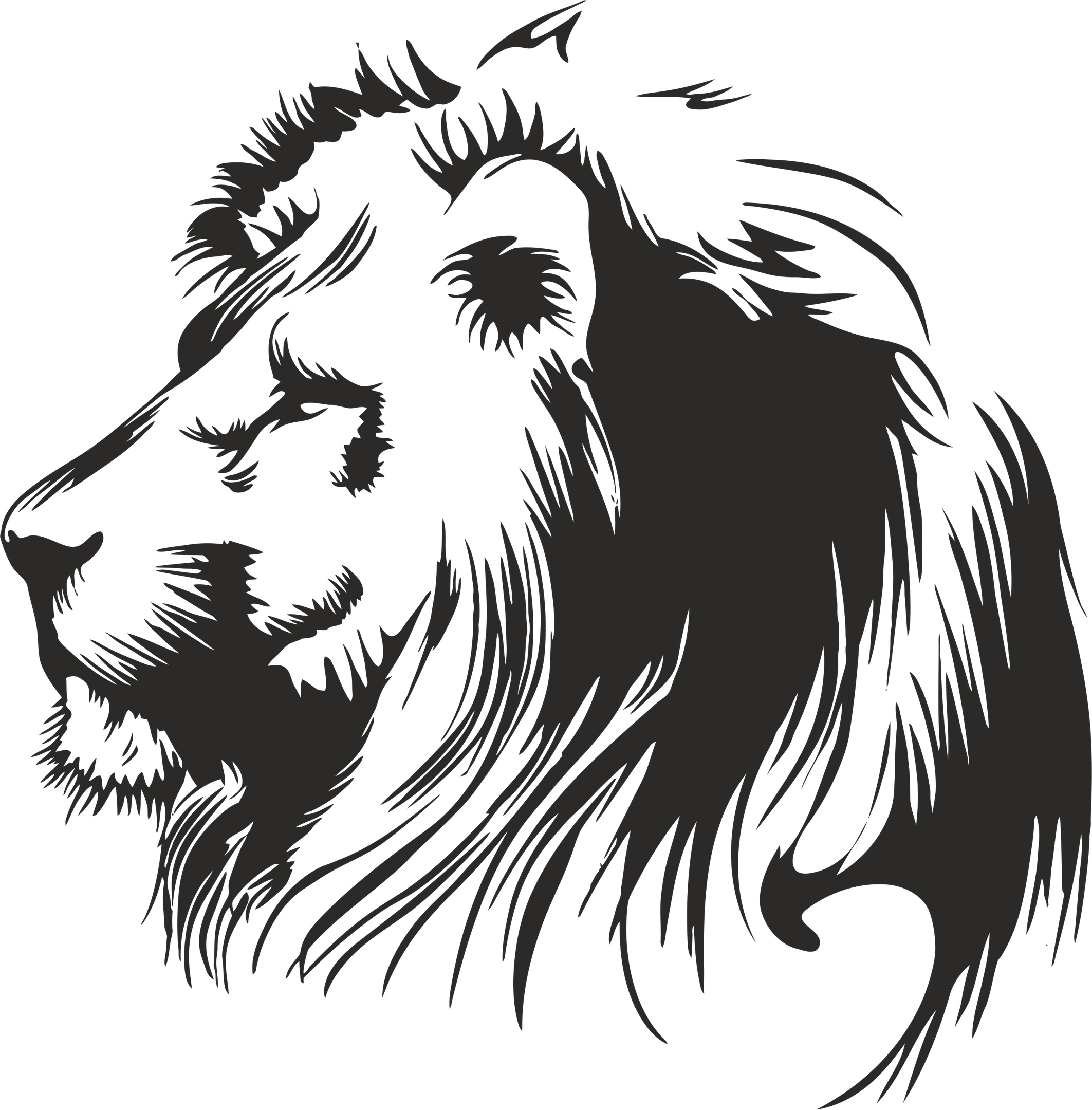 Download Lion Stencil Free Vector cdr Download - 3axis.co