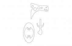 Skull Holder dxf File