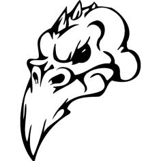 Skull 002 dxf File