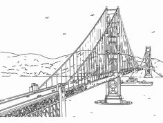 Golden Gate Bridge dxf File