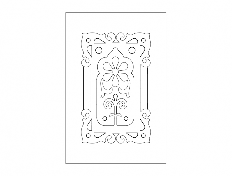 Door Design Flowers Dxf File Free Download 3axis Co