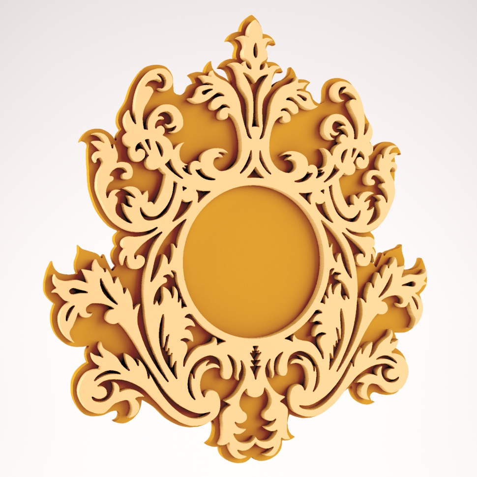 Wall Mirror Frame Design DXF File Free Download - 3axis.co