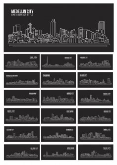 Silhouette Vector World Cities CDR File