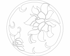 Flowers dxf File