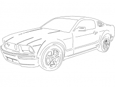 New Mustang dxf File
