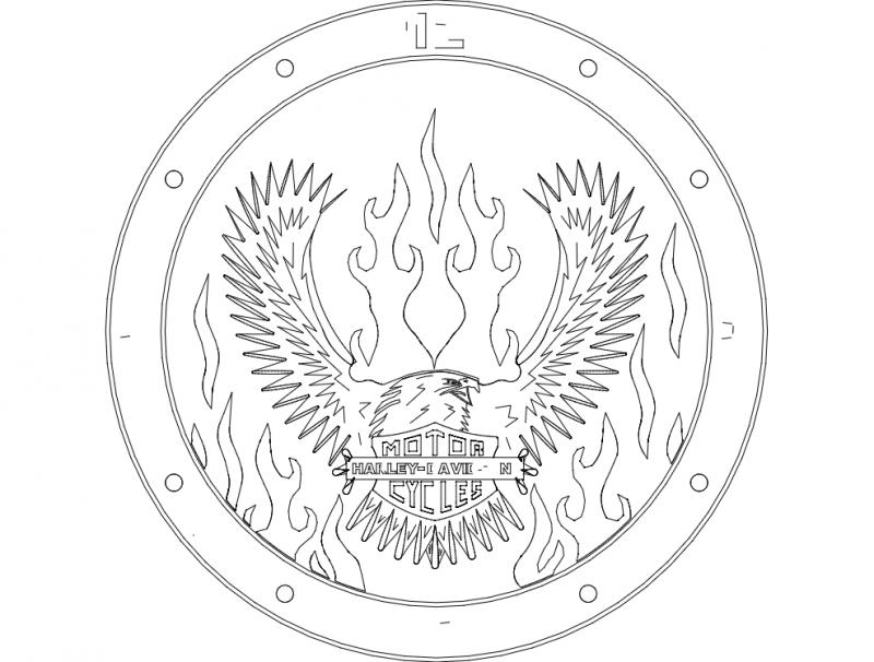 Eagle Clock dxf File