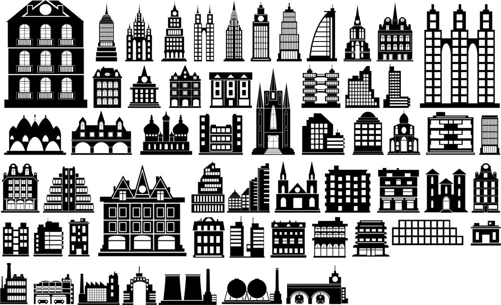 Building Silhouette Vector Free Vector Cdr Download 3axis Co