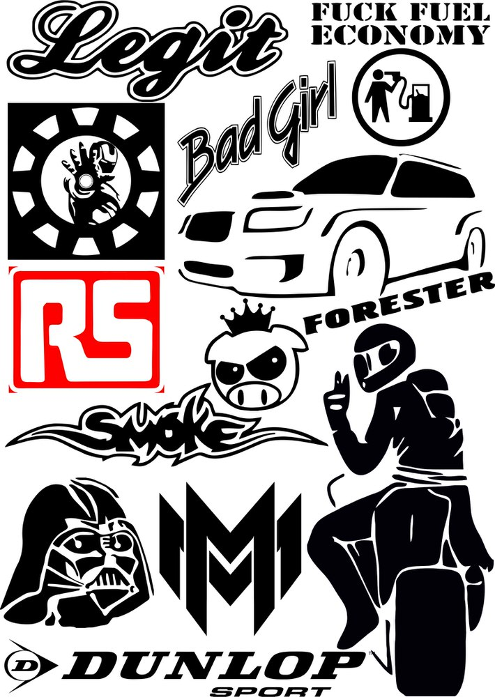 Car sticker vector cdr file