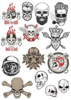 Skull motorclub stock vector CDR File