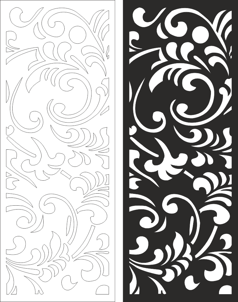 Wall Panels Screen Decorative CNC Laser CDR File