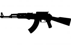 Gun 4 dxf File