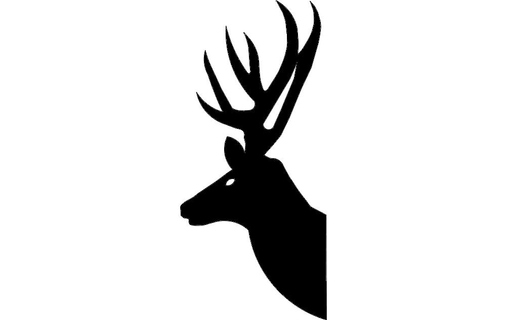 Deer Head Silhouette dxf File Free Download - 3axis.co