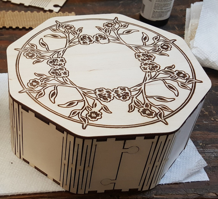 Octagon Box for Laser cutting dxf File Free Download - 3axis co