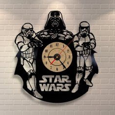 Star Wars Darth Vader Wall Clock and Storm Troopers CDR File