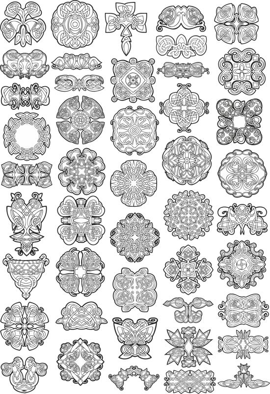 Collection Of Celtic Knot Patterns Free Vector Cdr Download 60axisco Inspiration Celtic Knot Patterns