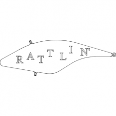 rattlin' Lure dxf File