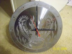 Eagle Clock dxf File