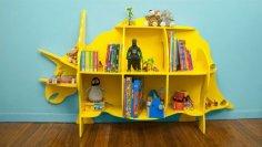 Dinosaur bookcase dxf File