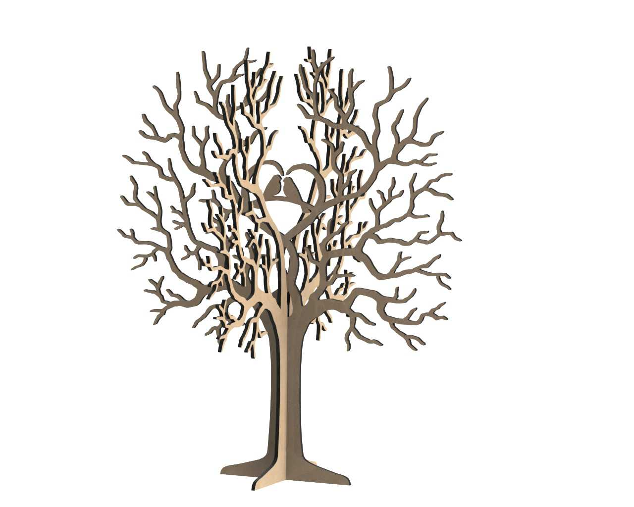 Birds Tree Jewelry Stand 3mm Dxf File Free Download 3axis Co