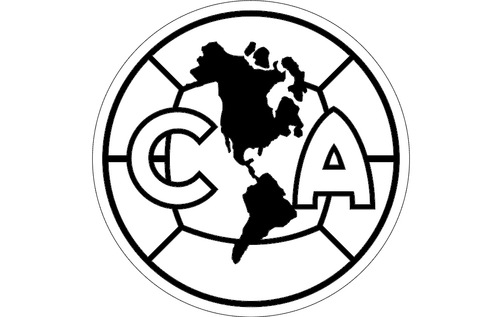 Ca Club America Dxf File Free Download 3axis Co