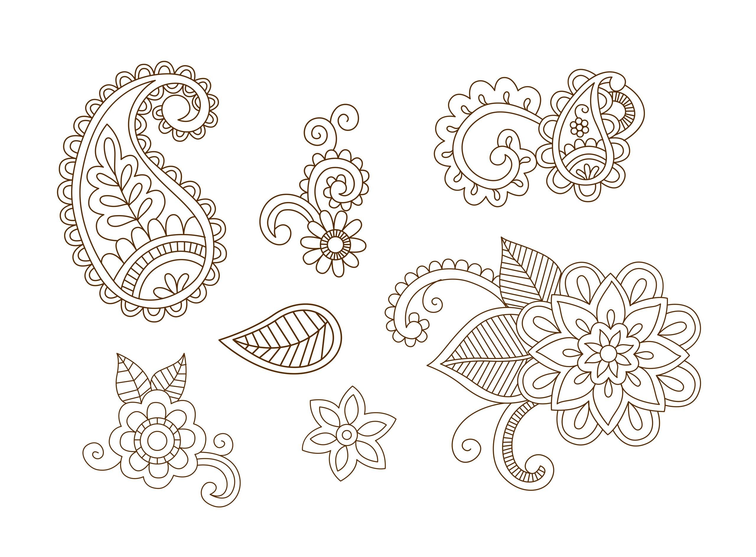 Henna Vector Set Vector Art Free Vector Cdr Download 3axis Co