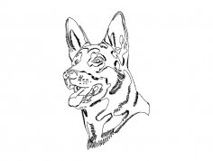 German Shepard dog dxf File
