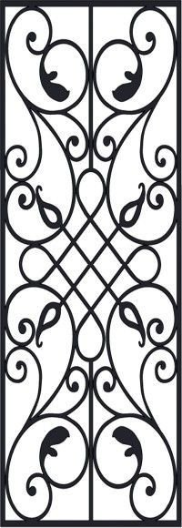 Victorian Iron Pattern dxf File