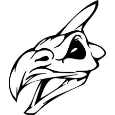 Skull 012 dxf File