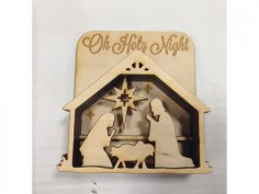 Nativity shadow box dxf File