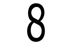 Number 8 dxf File