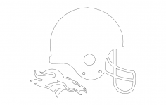 Denver Broncos Helmet 3d dxf File